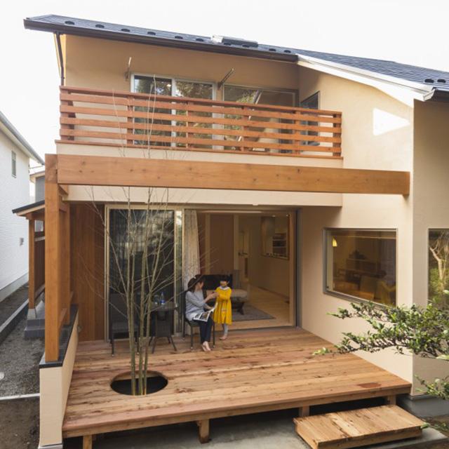 自然素材のデザイン住宅